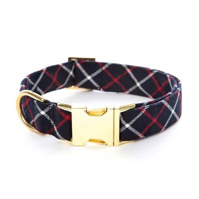 Oxford Plaid Dog Collar