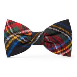 Stewart Plaid Dog Bow Tie