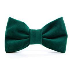 Forest Green Velvet Dog Bow Tie