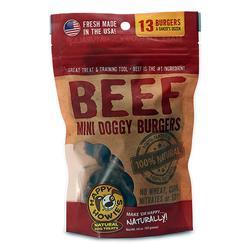 """Happy Howie Dog Beef Burger Bakers Dozen 2"""" 4OZ"""