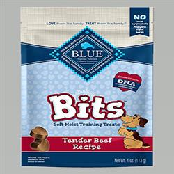BLUE BUFFALO DOG BITS BEEF 4 OZ.