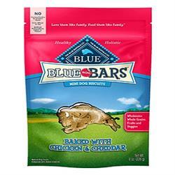 BLUE BUFFALO DOG MINI BERRY CHICKEN CHEDDAR 8 OZ.