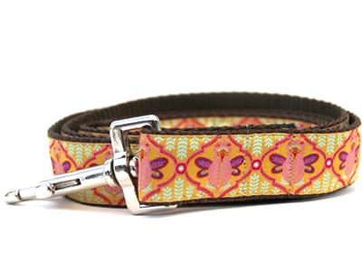 Queen Bee Pink Lemonade Dog Collar Silver Buckle