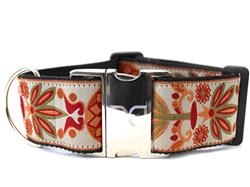 Venice Ivory Extra Wide Dog Collar