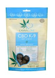 CANNALOVE CDB K-9 2MG CBD SOFT CHEWS HEMP INFUSED DOG TREAT 6.4OZ