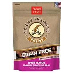 CLOUDSTAR DOG TRICKY TRAINER GRAIN FREE CHEWY LIVER 12OZ