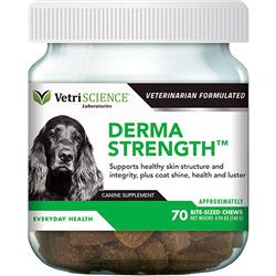 VETRISCIENCE DOG DERMA STRENGTH 70 COUNT