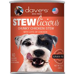 DAVE'S PET FOOD DOG STEWLICIOUS CHUNKY CHICKEN STEW 13OZ (CASE OF 12)