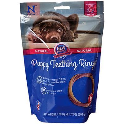 NBONE DOG PUPPY RING BLUEBERRY BBQ 6 PACK