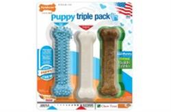 NYLABONE PUPPY STARTER KIT REGULAR BLUE 3PK