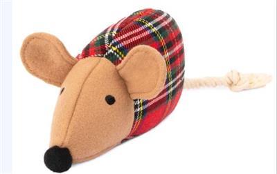 Plaid Mouse Plush Toy
