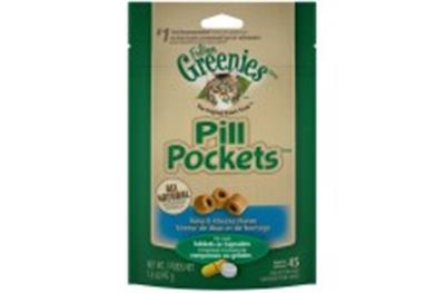 FELINE GREENIES PILL POCKETS TUNA & CHEESE 1.6OZ