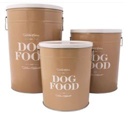 Taupe Bon Chien Food Storage Canisters