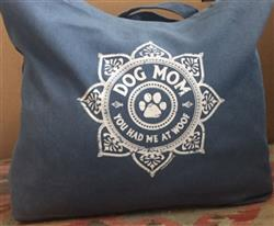 Dog Mom - Garment Dyed Tote