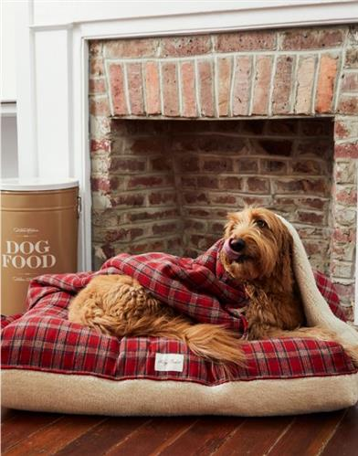 Plaid Sherpa Rectangle Bed
