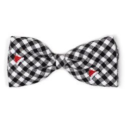Check Santa Hats Bow Tie