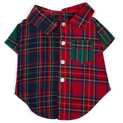 Colorblock Tartan Shirt
