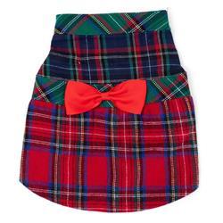 Colorblock Tartan Dress