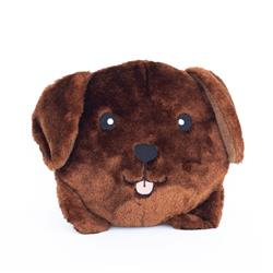Chocolate Lab Squeakie Buns Toy