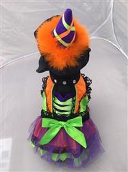 Halloween Neon Orange Witch