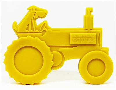 Industrial Dog by SodaPup Tractor Ultra Durable Nylon Dog Chew Toy for Aggressive Chewers, Guaranteed Tough, Non-Toxic, Reduces Boredom and Problem Chewing, Made in USA, Large Yellow
