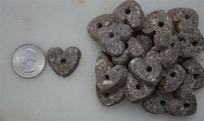 """Blueberry & Coconut 1"""" Hearts (5lbs)"""