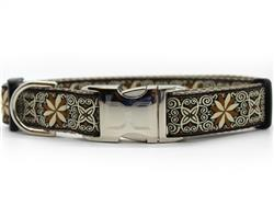 Zanzibar Market Dog Collar Silver Metal Buckles