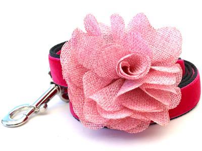 Christie Pink Velvet Dog Leash
