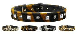 Animal Print Crystal and Pyramid Collars
