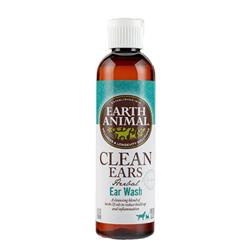 Earth Animal Herbal Topical Remedies Clean Ears Ear Wash for Dogs & Cats, 4 oz. Bottle