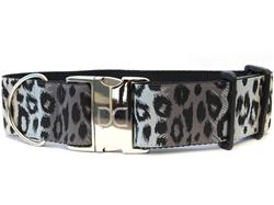 Midnight Leopard Extra Wide Dog Collar