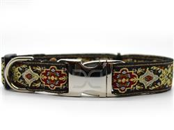 Tzar Dog Collar Yellow Gold Metal Buckles