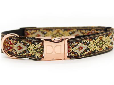 Tzar Dog Collar Rose Gold Metal Buckles