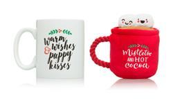 Mistletoe Mug & Dog Toy Gift Set