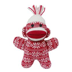 "12"" Holiday JUMBO Sock Monkey Crystal - Red by Lulubelles"