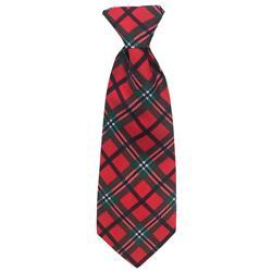 Red Tartan Long Tie by Huxley & Kent
