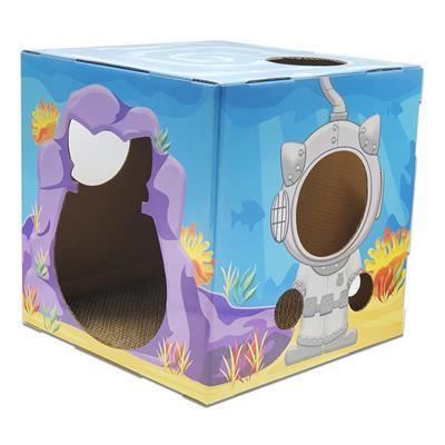 FUNBOX WITH SCRATCHER BOARD - OCEAN