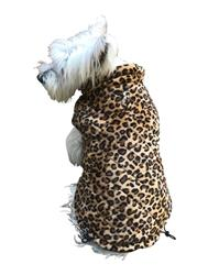 Coco diamond puffer coat, leopard velvet