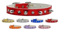 Metallic Crystal and Spike Jewelry Collars