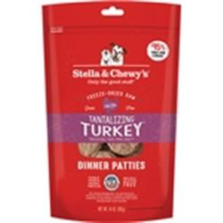 STELLA & CHEWY'S DOG FREEZE-DRIED TURKEY DINNER PATTIES 14OZ