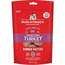 STELLA & CHEWY'S DOG FREEZE-DRIED TURKEY DINNER PATTIES 5.5OZ