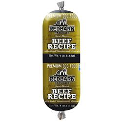 REDBARN BEEF ROLL DOG FOOD 24CT/3OZ