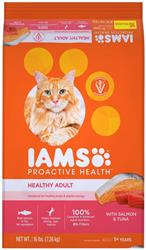 IAMS PROACTIVE HEALTH ADULT SALMON & TUNA DRY CAT FOOD 16LBS