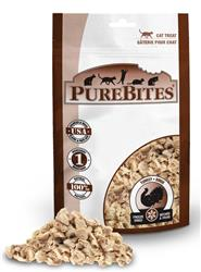 PUREBITES FREEZE DRIED TURKEY CAT TREAT VALUE BAG .92OZ