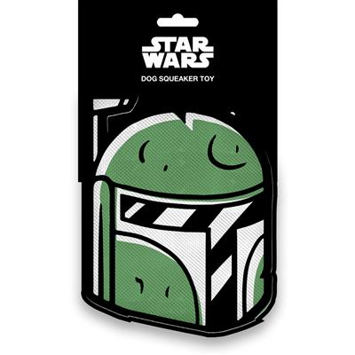 Star Wars Boba Fett Head Pet Plush Squeaker Toy by Buckle-Down