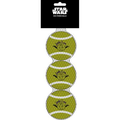Star Wars Yoda Face/Quote Pet Toy Tennis Ball by Buckle-Down