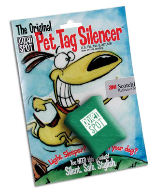 Green Quiet Spot Dog Tag Silencer
