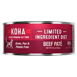 KOHA Beef Pâté Wet Cat Food - 5.5 oz Cans - Limited Ingredient Diet