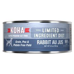 KOHA Rabbit Pâté Wet Cat Food - 5.5 oz Cans - Limited Ingredient Diet