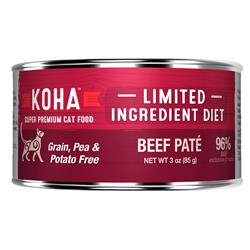 KOHA Beef Pâté Wet Cat Food - 3 oz Cans - Limited Ingredient Diet